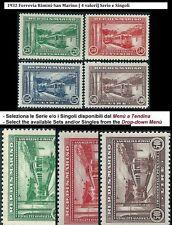 ** San Marino 1932: FERROVIA [4 valori; MNH ] Serie e Singoli