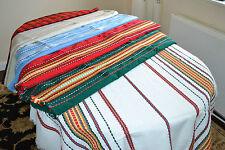 "200 x 140 Bulgarian Folk Modern Design Large Table Cloth Cover Vintage 80""x 56"""