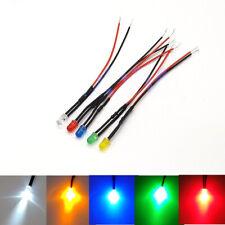5mm Pre-Wired Ultra Bright LEDs Bulb 2V 3V 12V~ 220V White/Red/Green/Blue/Yellow