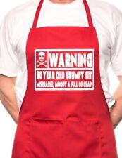 80 año de edad Git 80th Cumpleaños Divertido Novedad Delantal de cocina de barbacoa