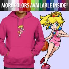 Super Mario Hoops Princess Peach Basketball Pullover Sweatshirt Hoodie Sweater