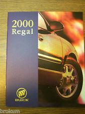 2000 BUICK REGAL DEALER SALES BROCHURE LS GS DELUXE MINT (BOX 745)