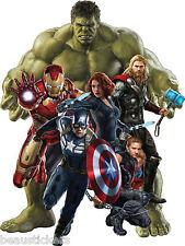 Stickers Hulk-Iron man-Captain América-Hawkeye-Black Widow Avengers ref 15043 15