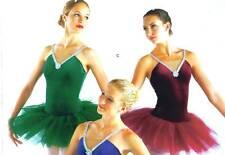NEW BALLET COSTUME RHINESTONE CH Ad DANCE TULLE TUTU