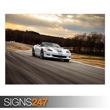 Corvette 427 Convertible (AB614) Auto Poster-Poster Arte Stampa A0 A1 A2 A3