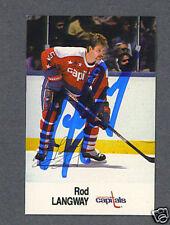 Rod Langway signed Washington Capitals 1988 Esso card