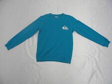 Quiksilver Cliff Check Tile Blue or Vintage Crew Sweatshirt Long Sleeve Sz M