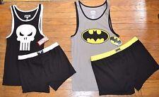 Marvel Dc Comics 2 pzas Hombre Pijama Set Camiseta Tirantes y shorts CASTIGADOR