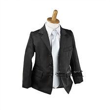 NEW Kids Boys Formal Suit Wear Sold Separate (Jacket Vest Pants) sz000–16 BLACK