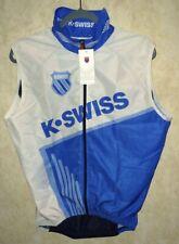 NEW Mens M K SWISS Wind Performance S/L Vest Triathlon Cycling Blue White Black