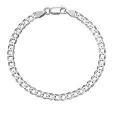 Solid 925 Sterling Silver Men's Heavy Italian 8mm Cuban Curb Link Chain Bracelet