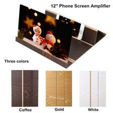 3D Phone Screen Magnifier Stereoscopic Amplifying 12 Inch Desktop Wood Bracket
