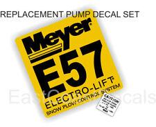 2 Snow Plow decals Mini Torque + Meyer E57 Pump E-57 YL