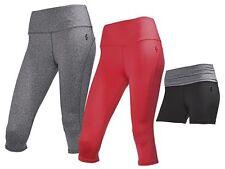CRIVIT Damen Funktionscapri Funktionspanty Laufhose Fitnesshose Sport Hose Capri