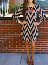 Women Casual Striped Long Tops T-shirt Blouse Tunic Mini dress