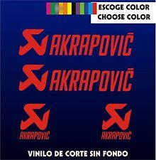 4 X PEGATINAS -STICKER- VINILO - PACK - AKRAPOVIC - Moto Sponsor - AUTOCOLLANT