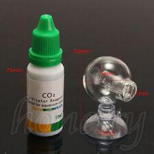 Aquarium Carbon Dioxide CO2 Monitor Glass Drop Ball Checker Tester PH Indicator