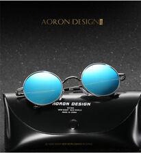 Men Women Polarized Retro Round Driving Sunglasses Eyewear Unisex Metal Frame