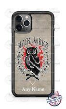 Black Wings Barn Owl Customized Art Phone Case For iPhone Samsung LG Google