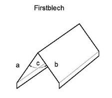 Firstblech  Alu, Zink o. Kupfer