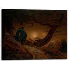 Caspar uomini e la luna design quadro stampa tela dipinto telaio arredo casa