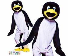 Adult PENGUIN Mascot Fancy Dress Costume Animal Zoo Bird Antartic Outfit Unisex
