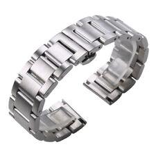 Stainless Steel Watch Band Strap Silver 18 20 21 22 23 24mm Metal Wrist Bracelet
