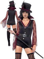 Fever Vampire Costume Ladies Halloween Vampiress Fancy Dress Outfit XS-M