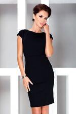 Ladies UK New Elegant Formal Black Numoco Business Dress Short Sleeves Size 6-14