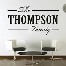 personnalisé Famille nom de personnalisable décalcomanie autocollant Art Mur (