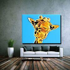 LEINWAND BILD ER XXL POP ART GIRAFFE AFRIKA TIER ZOO OKAPI SAFARI 40x30 - 120x90