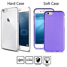3-IN-1 Slim Hard CLEAR Transparent Rigid Plastic case cover For iPhone 6 6s Plus