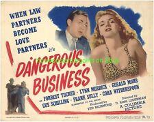 DANGEROUS BUSINESS 1946 LOBBY CARD LYNN MERRICK is MARILYN MONROE ???