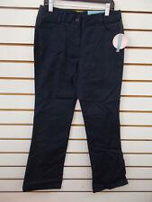Girls Nautica $34 Khaki Skinny Bootcut Adj Waist Uniform Pants Plus Sz 10.5-16.5