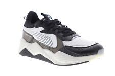 Puma RS-X Tech 36932901 Mens White Black Canvas Lace Up Low Top Sneakers Shoes