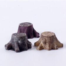 Tree Stump Miniature Garden Ornament Mushroom Craft Pot Fairy Dollhouse 3C