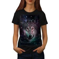 Wolf Space Cosmos Animal Women T-shirt S-2XL NEW   Wellcoda