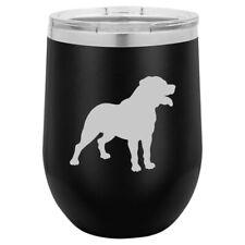 Stemless Wine Tumbler Coffee Travel Mug Glass Rottweiler