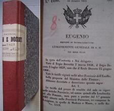150° unità d'Italia Regi leggi decreti 1860 dicembre.