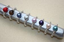 SILVER Plated & perle fatto a mano Thumb Toe Anello Stretch-Idea Regalo Nuziale