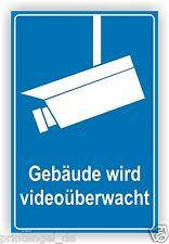 Schild Video Gebäude wird videoüberwacht Videoüberwachung Hinweisschild Vi33
