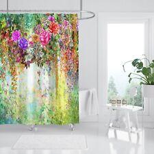 3D Blumen Garten 78 Duschvorhang Wasserdicht Faser Bad Daheim Windows Toilette