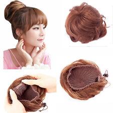Clip in Hair Bun Ponytail Hairpiece Hair Bun Cover Hairpiece Clip on pony tail