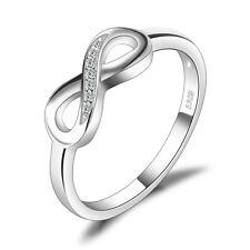 Anillo Amor Infinito Jewelrypalace de Plata de Ley 925 con Circonita Cúbica