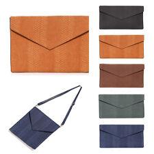Korea Men Python Clutch Cross Bag Faux Leather Briefcase Purse Wallet Handbag