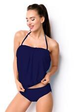 Tankini Costume due pezzi donna curvy blu mare spiaggia moda piscina uy 15203