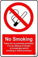 NO SMOKING warning sticker decal sign 15cmx10cm safety self adhesive sticky back