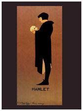 Hamlet Nouveau vintage POSTER. Skull. Graphic Design. Wall Art Decoration.3218