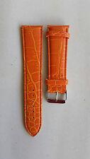 CINTURINO PER OROLOGIO OROLOGI PELLE ARANCIONE PITONATO 16 18 20 22 24 mm