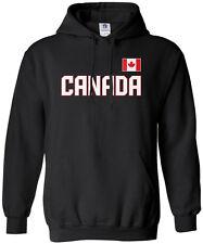 Threadrock Men's Canada National Team Hoodie Sweatshirt canadian flag